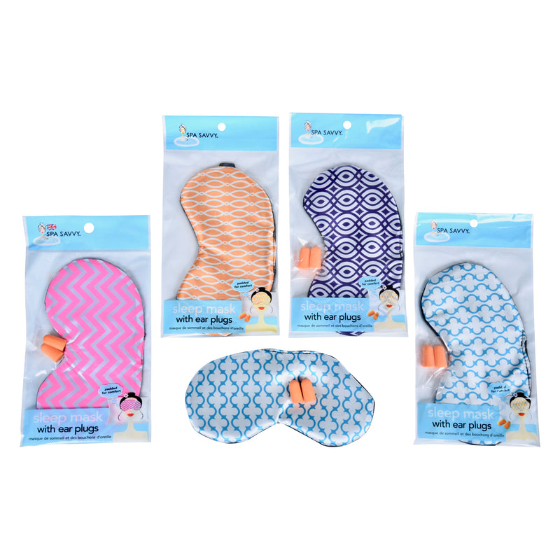 Satin Eye Mask with Ear Plugs