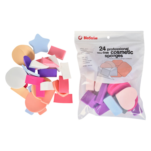 Pack of 24 Latex Free Cosmetic Makeup Sponges