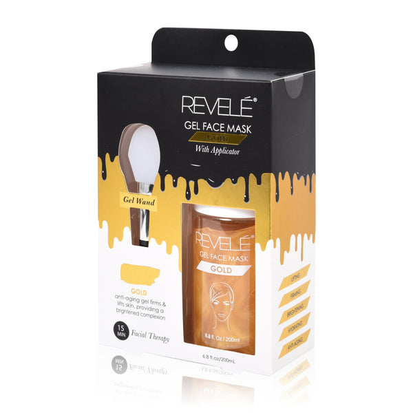 Gold Gel Face Mask with Applicator
