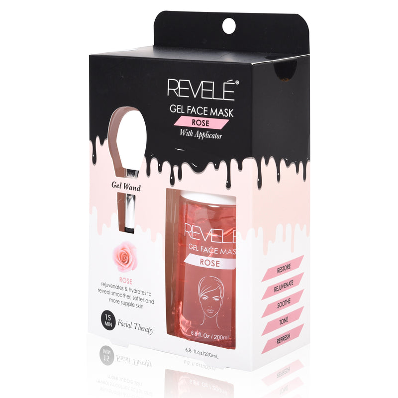 Rose Gel Face Mask with Applicator