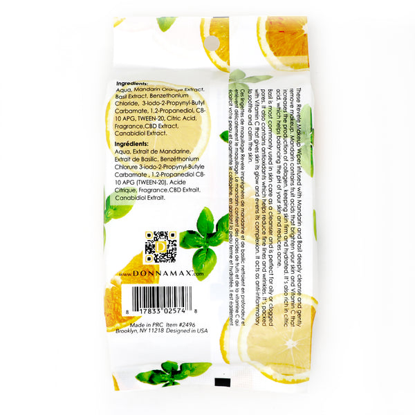 Mandarin and Basil 30 Count Makeup Remover Wipes
