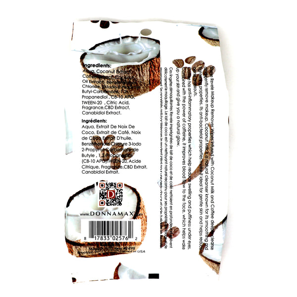 Coconut Milk and Coffee 30 Count Makeup Remover Wipes