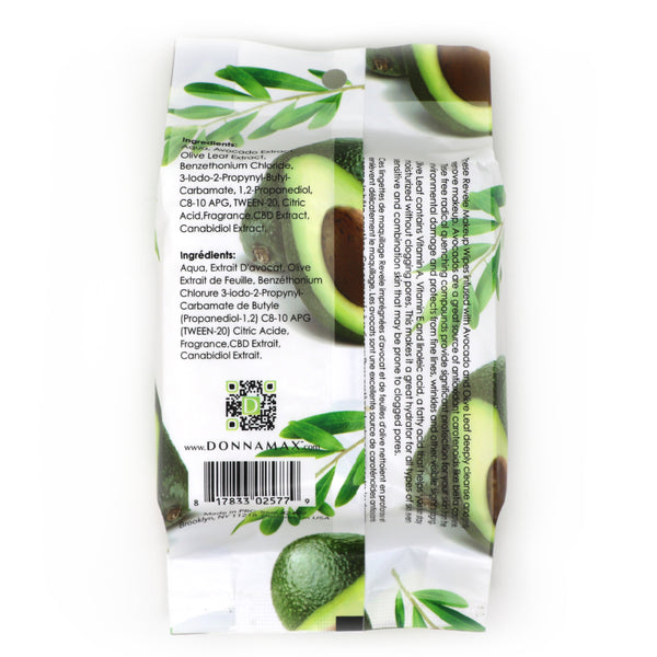 Avocado and Olive Leaf 30 Count Makeup Remover Wipes