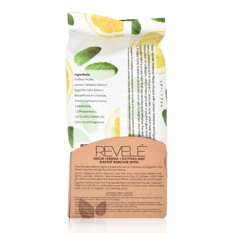 Lemon Verbena and Egyptian Mint 60 Count Makeup Remover Wipes