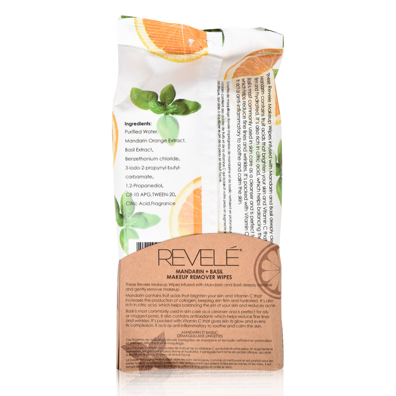 Mandarin and Basil 60 Count Makeup Remover Wipes