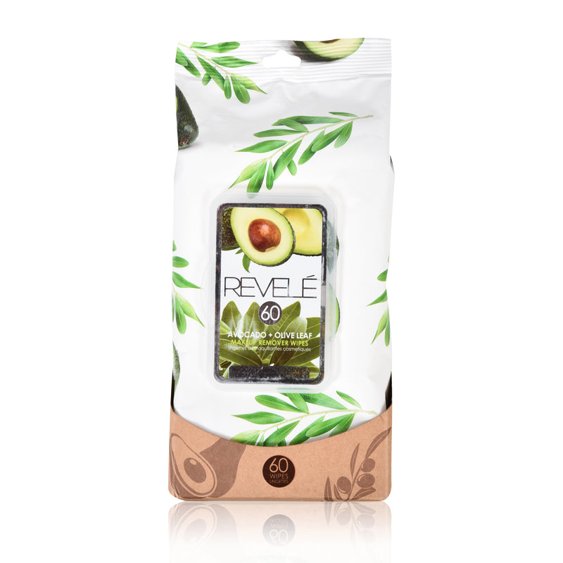 Avocado and Olive Leaf 60 Count Makeup Remover Wipes