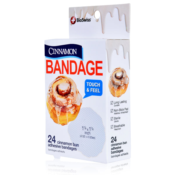 Cinnamon Bun Shaped Bandages - Pack of 24
