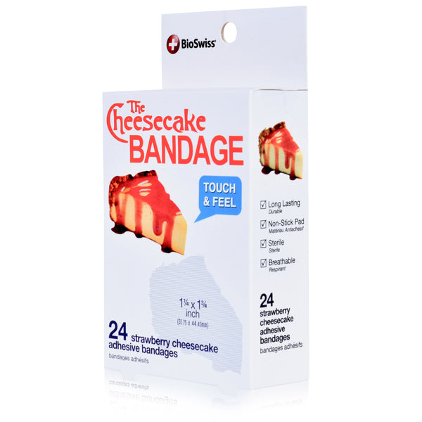 Cheesecake Shaped Bandages - Pack of 24
