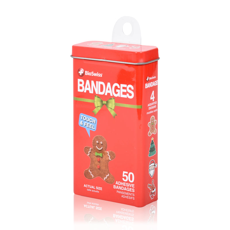 Christmas Shaped Bandages in Tin
