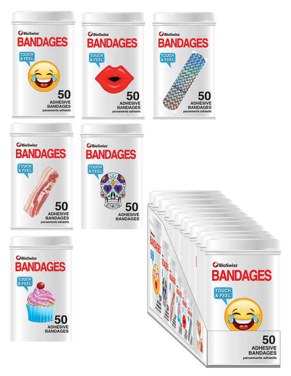 Novelty Shaped Bandages in Tin