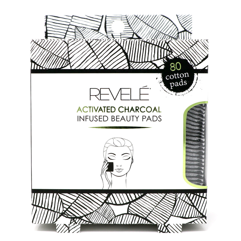 Pack of 80 Charcoal Infused Cotton Pads