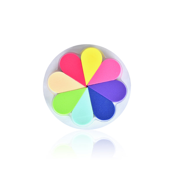 8 Cosmetic Sponges Colorwheel