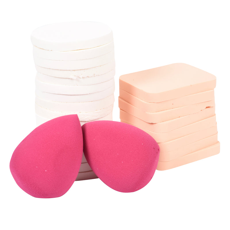 24 Makeup Sponges with 2 Blending Sponges