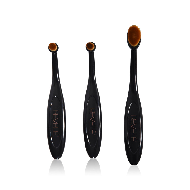 Primer, Concealer and Lip Color Velvet Oval Brush Set