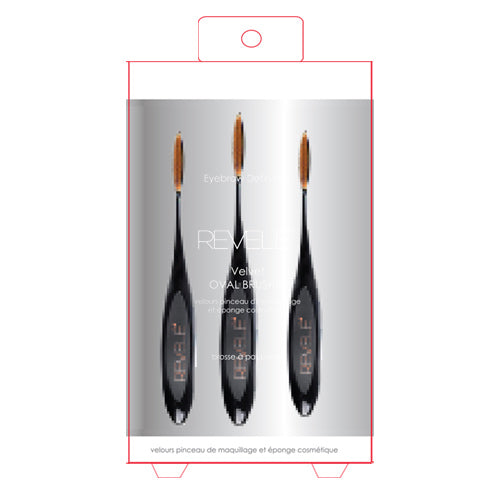 Eyebrow Definition Velvet Oval Brush Set