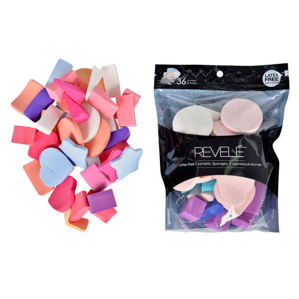 Pack of 36 Latex Free Cosmetic Makeup Sponges