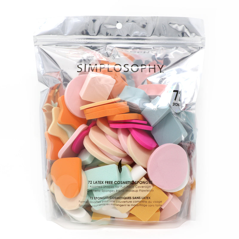 Pack of 72 Assorted Cosmetic Sponges