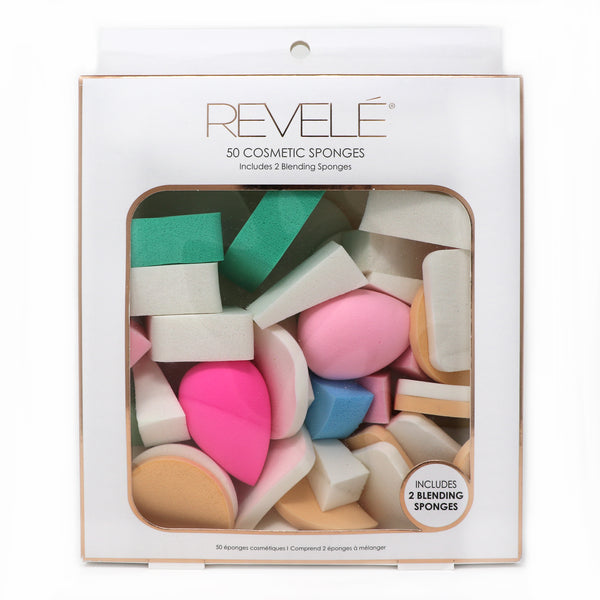 50 Cosmetic Sponges with 2 Blenders