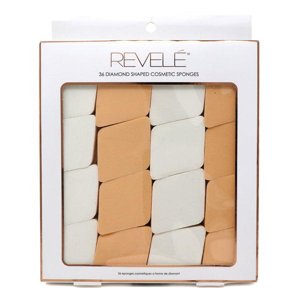 PACK OF 36 DIAMOND SHAPED COSMETIC SPONGES