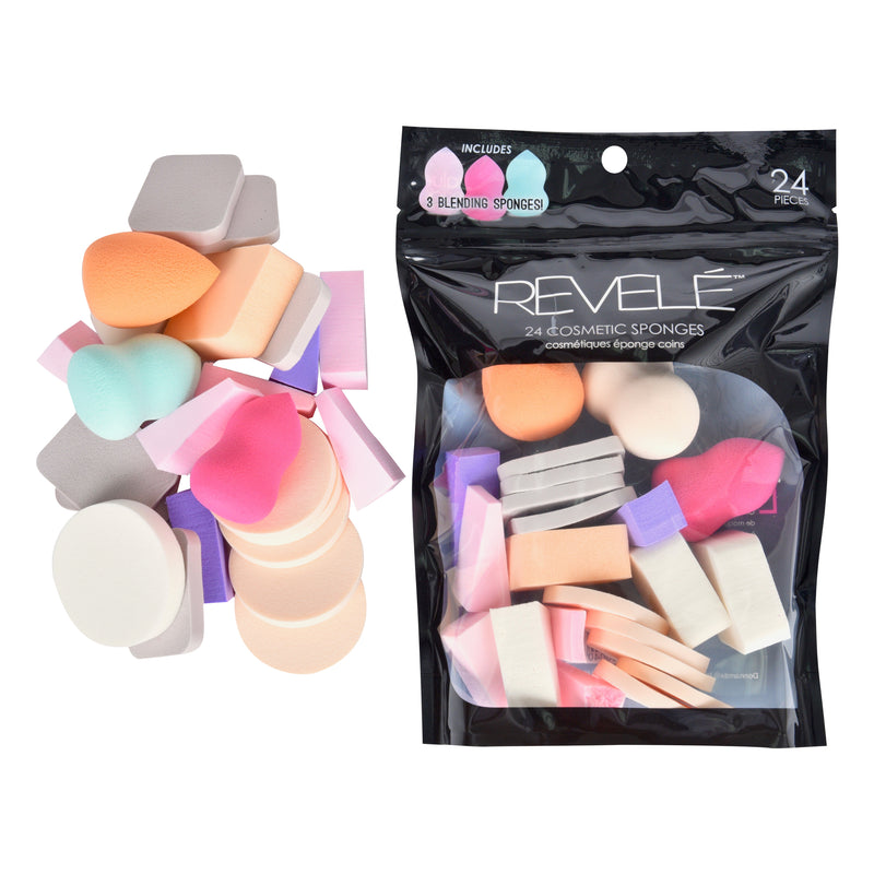 24 Makeup Sponges with 3 Blending Sponges