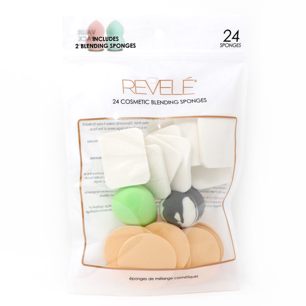 24 Cosmetic Sponges with 2 Blender