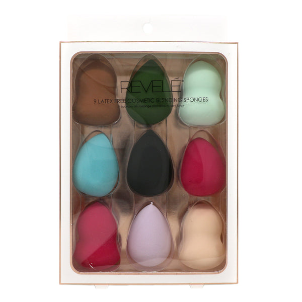 Pack of 9 Latex Free Cosmetic Sponges