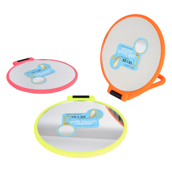 2x Soft Touch Folding Mirror