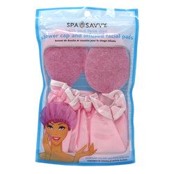 Fully Lined Shower Cap and Infused Facial Pads