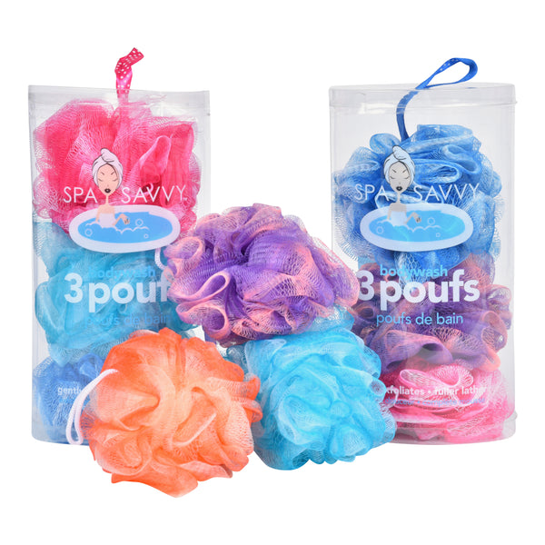Pack of 3 Bath Poufs
