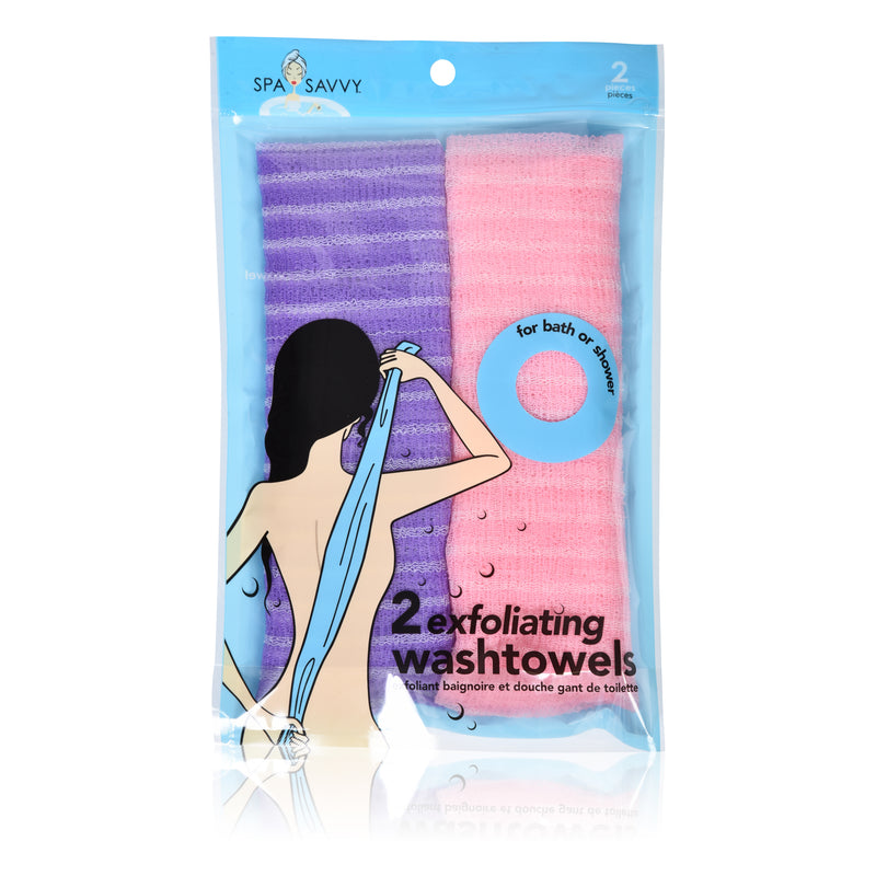 Pack of 2 Exfoliating Back Towel