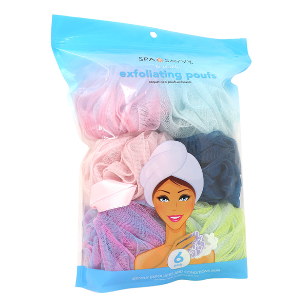 Pack of 6 Exfoliating Pouf