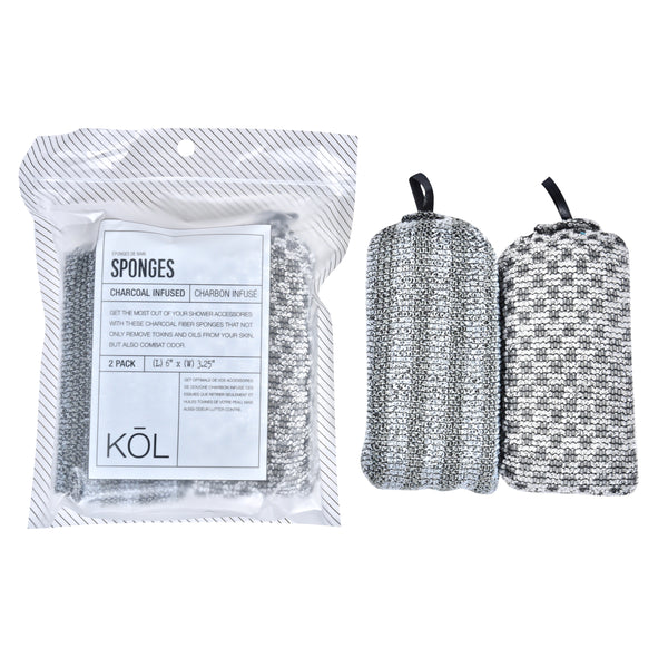 KŌL Pack of 2 Shower Sponges