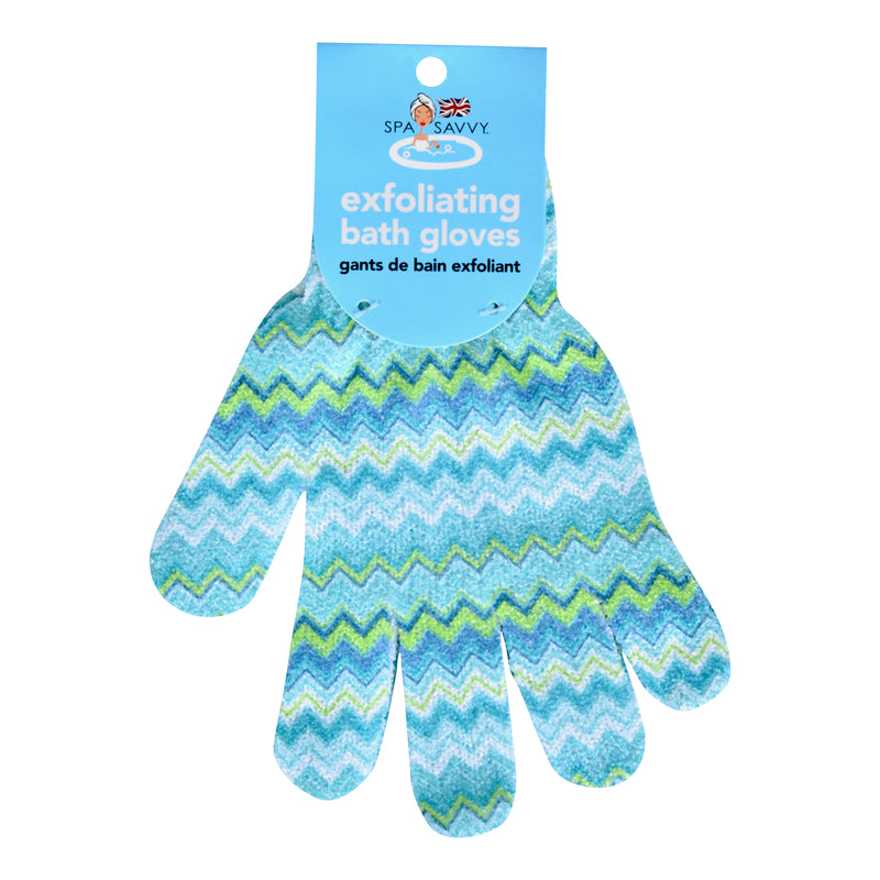 Printed Exfoliating Bath Gloves