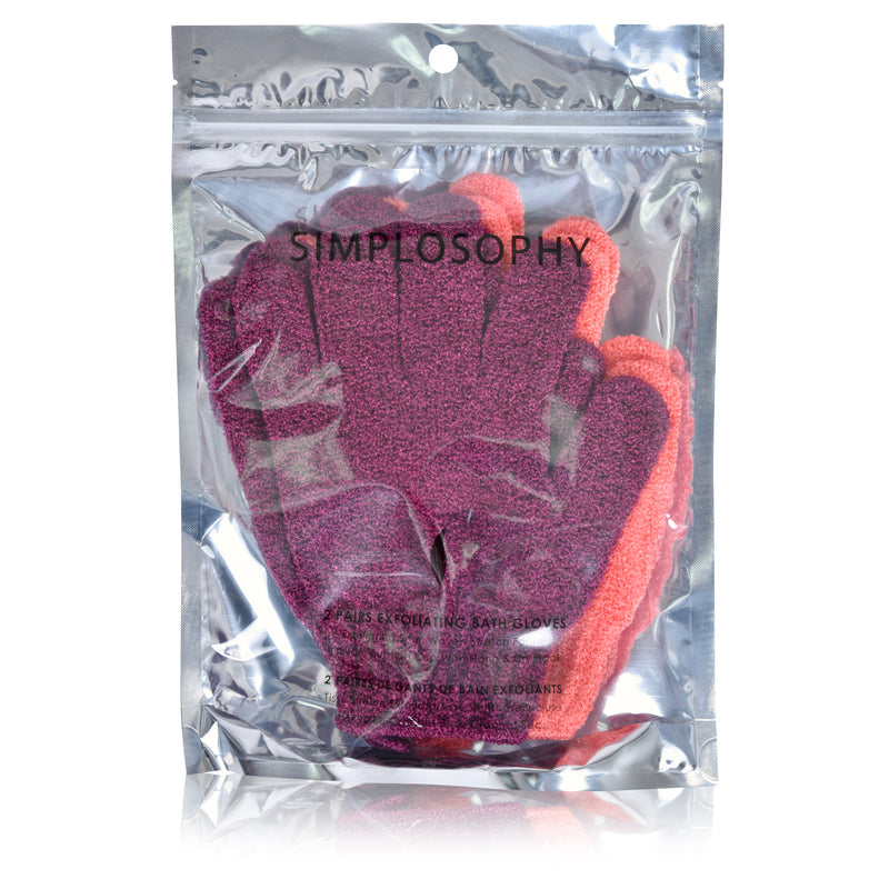 Exfoliating Bath Gloves - 2 Sets