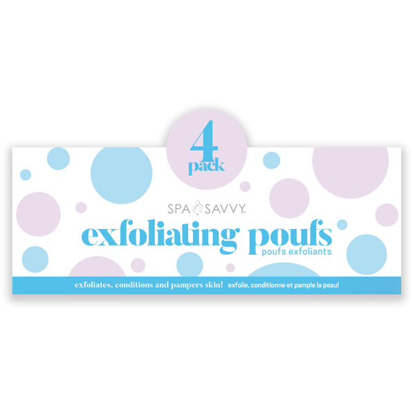 Pack of 4 Exoliating Poufs