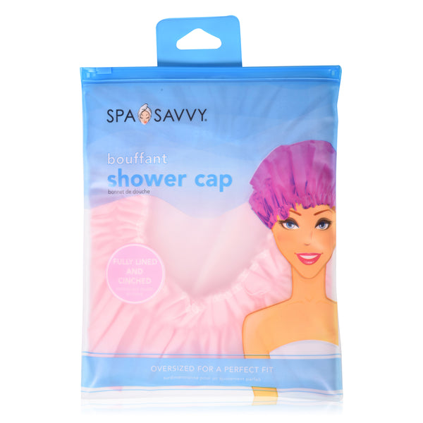 Fully Lined Bouffant Shower Cap