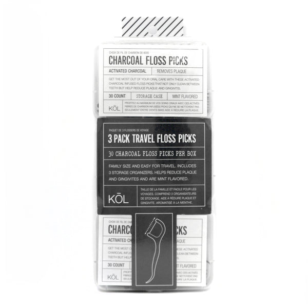 Pack of 3 Floss Picks Travel Pack