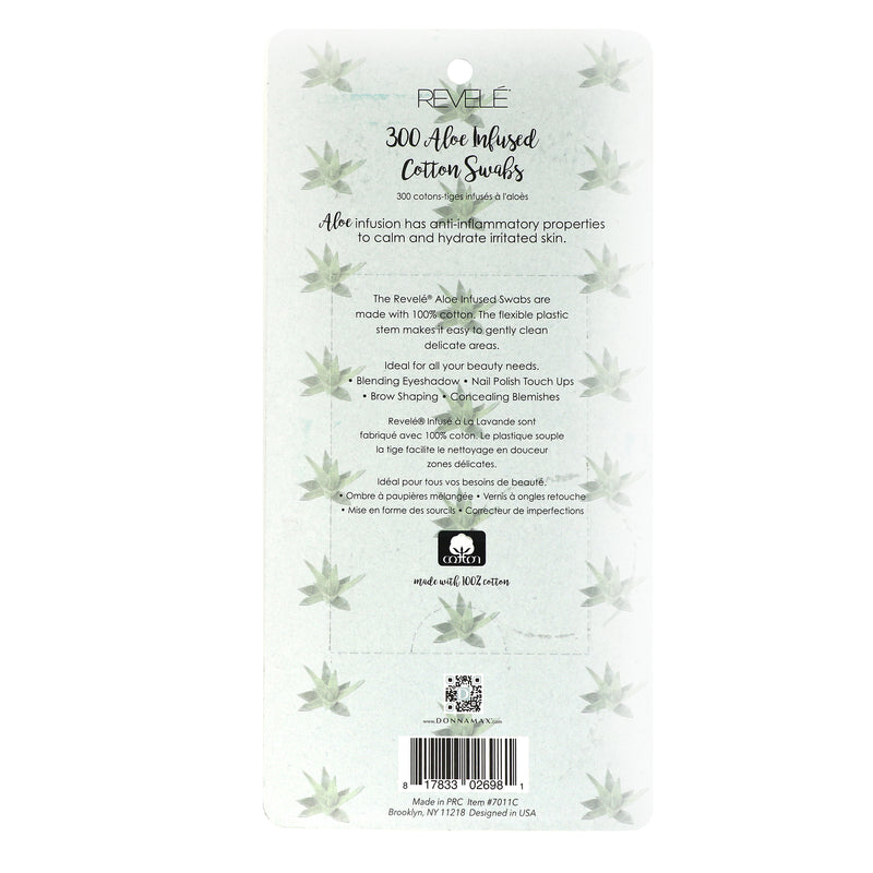 Pack Of 300 Aloe Infused Cotton Swabs