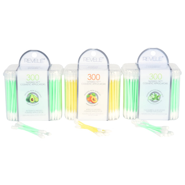 300 Count Essential Oil Infused Tapered Tip Beauty Swabs