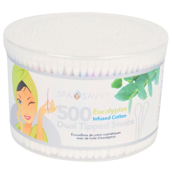 500 Count Eucalyptus Infused Beauty Swabs