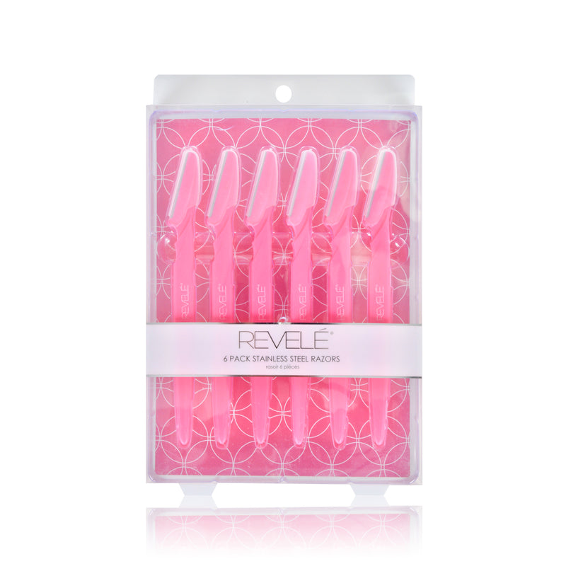Pack of 6 Precision Bikini and Eyebrow Razors