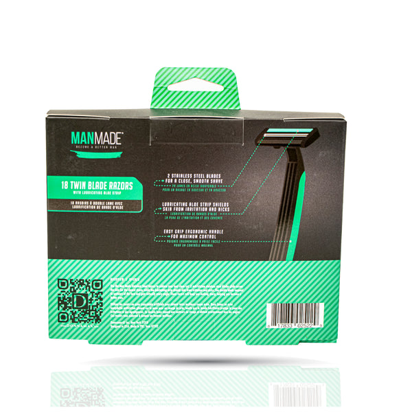 Men's Pack of 18 Twin Triple Blade Razor