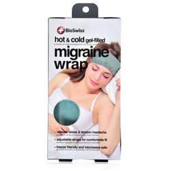 Hot/Cold Gel Filled Plush Migraine Wrap