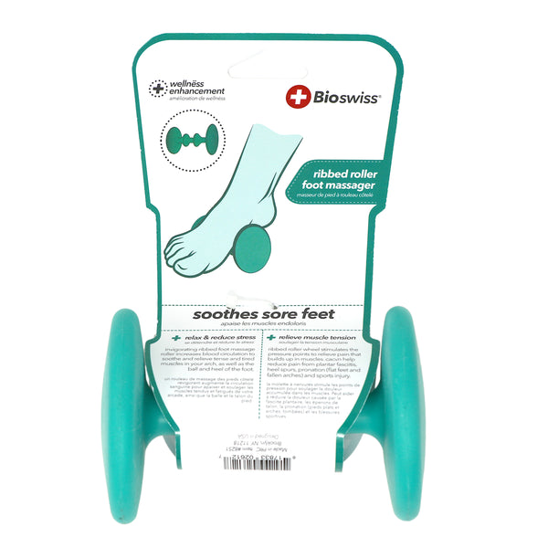Ribbed Roller Foot Massager