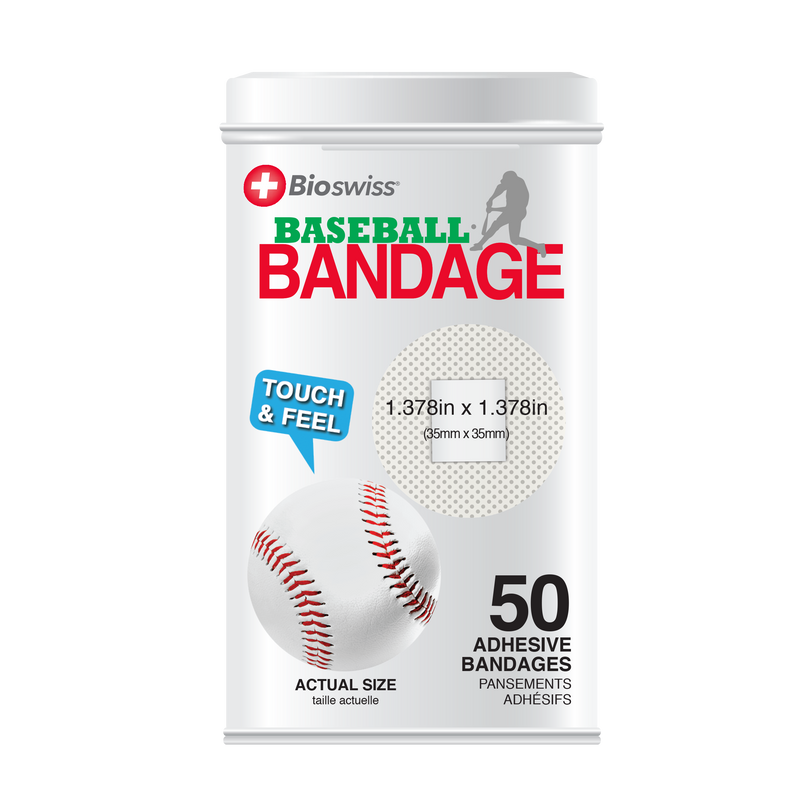 Baseball Bandages - 50 Count Tin