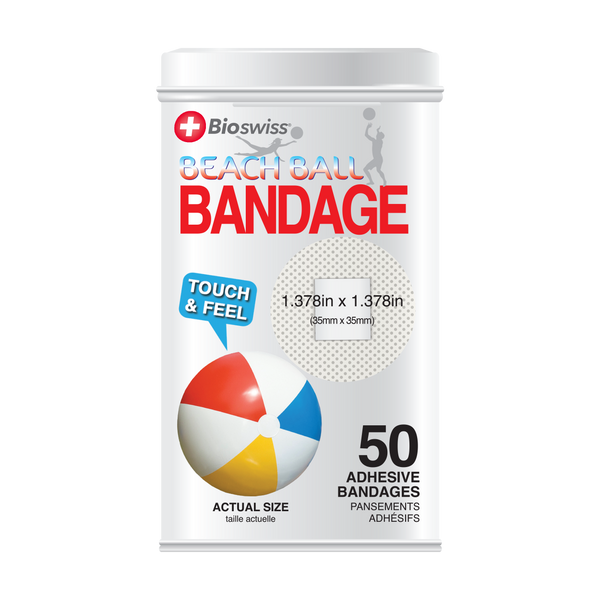 Beachball Bandages - 50 Count Tin