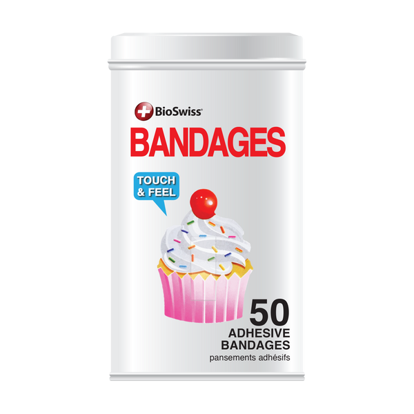 Cupcake Bandages - 50 Count Tin