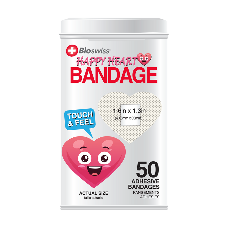 Heart Bandages - 50 Count Tin