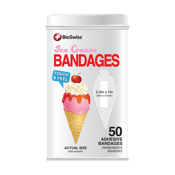 Ice Cream Bandages - 50 Count Tin