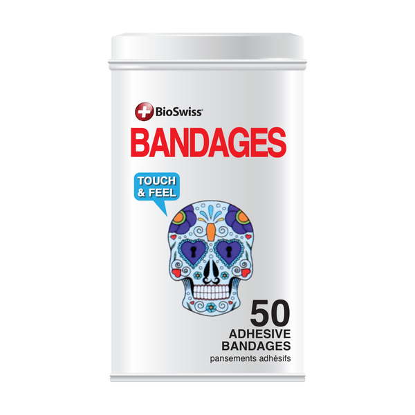 Skull Bandages - 50 Count Tin